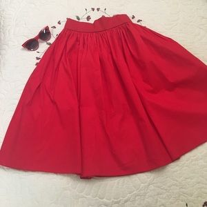 Unique Vintage Red A-line Skirt L